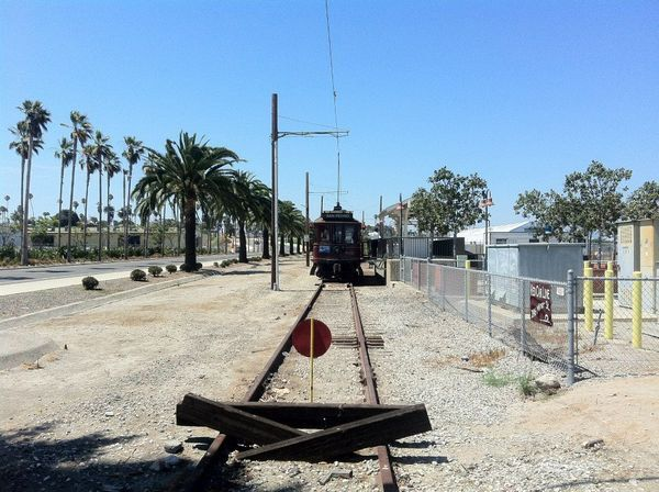 End of the line -- south of Marina Station