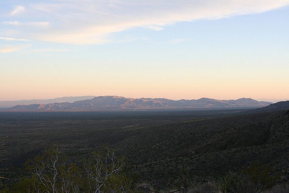 Clipper Mountains at sunset from the Providence Mountains SRA campground | Chris Clarke photo