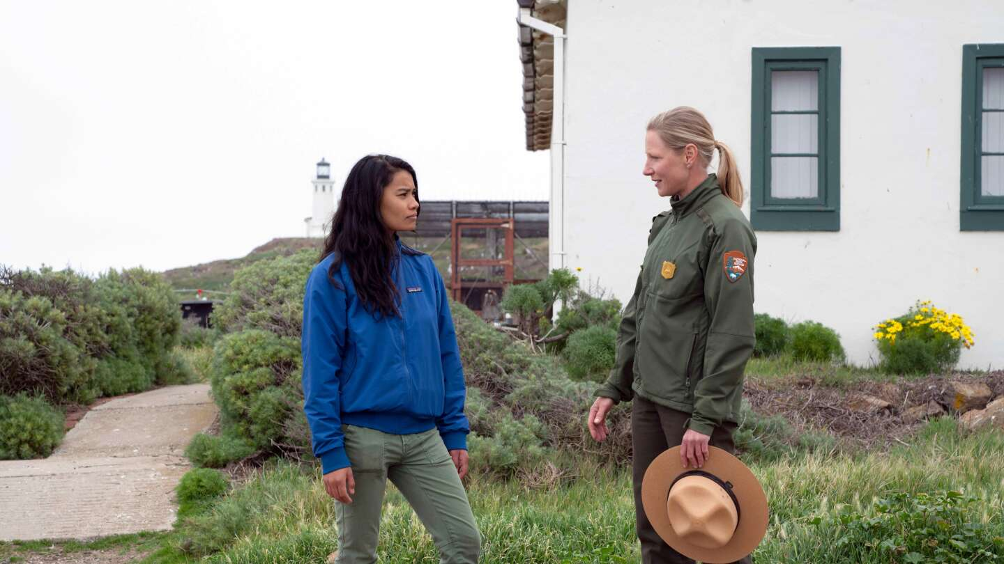 Rosey Alvero and National Parks Dive Ranger Kelly Moore on Anacapa Island
