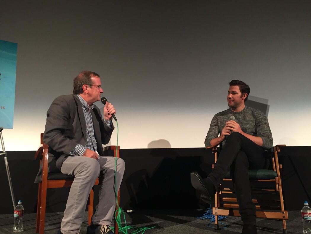 "Pete Hammond and John Krasinski talk about ""The Hollars."" 