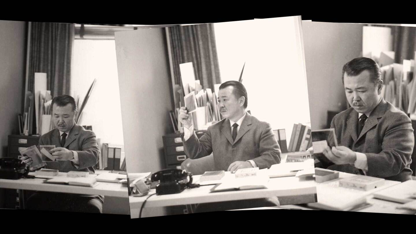 "Neil Fujita at work | Still from ""Artbound"" Masters of Modern Design"