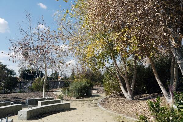 Walking trails and an outdoor classroom at Durfee Thompson Elementary School take students outside for a healthier, more active lifestyle.