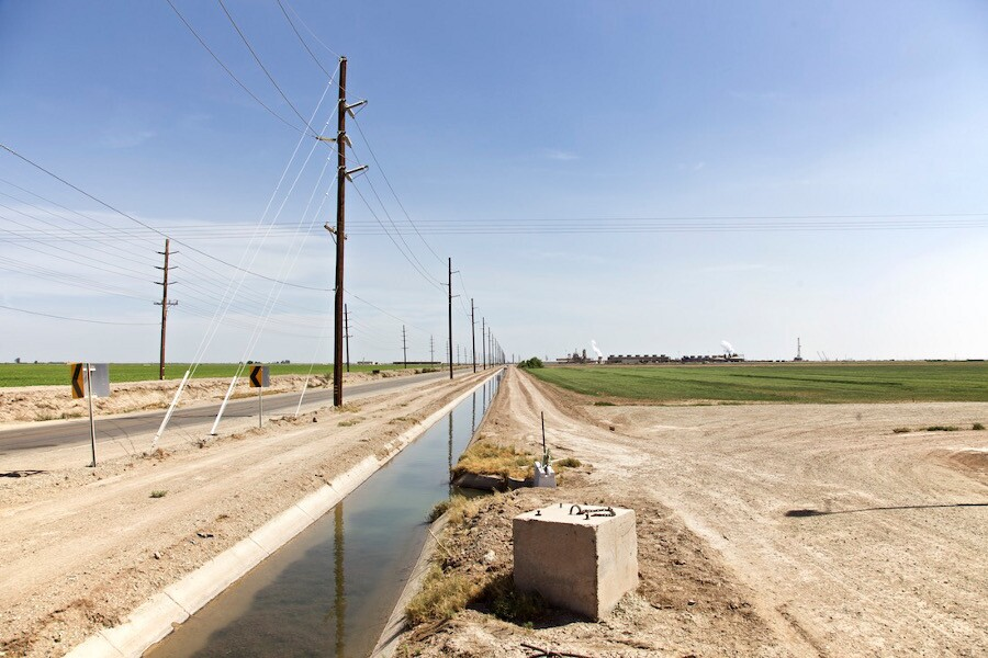 """Irrigation Canal Near Thermal Plant."" Niland, CA. 2014. 