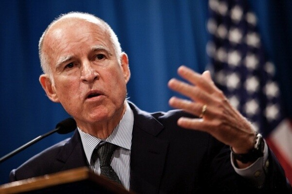 California Governor Jerry Brown in October | Photo by Max Whittaker/Getty Images