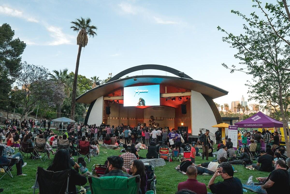 The Paranoias perform at Levitt Pavilion Los Angeles in MacArthur Park | Courtesy of Levitt Pavilion Los Angeles