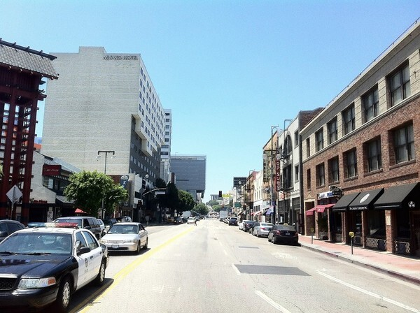First Street in Little Tokyo -- old shops on the right