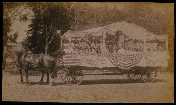 Fourth of July parade float in Santa Monica (undated photograph). Courtesy of the Santa Monica Public Library Image Archives.