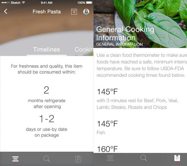 FoodKeeper app from USDA
