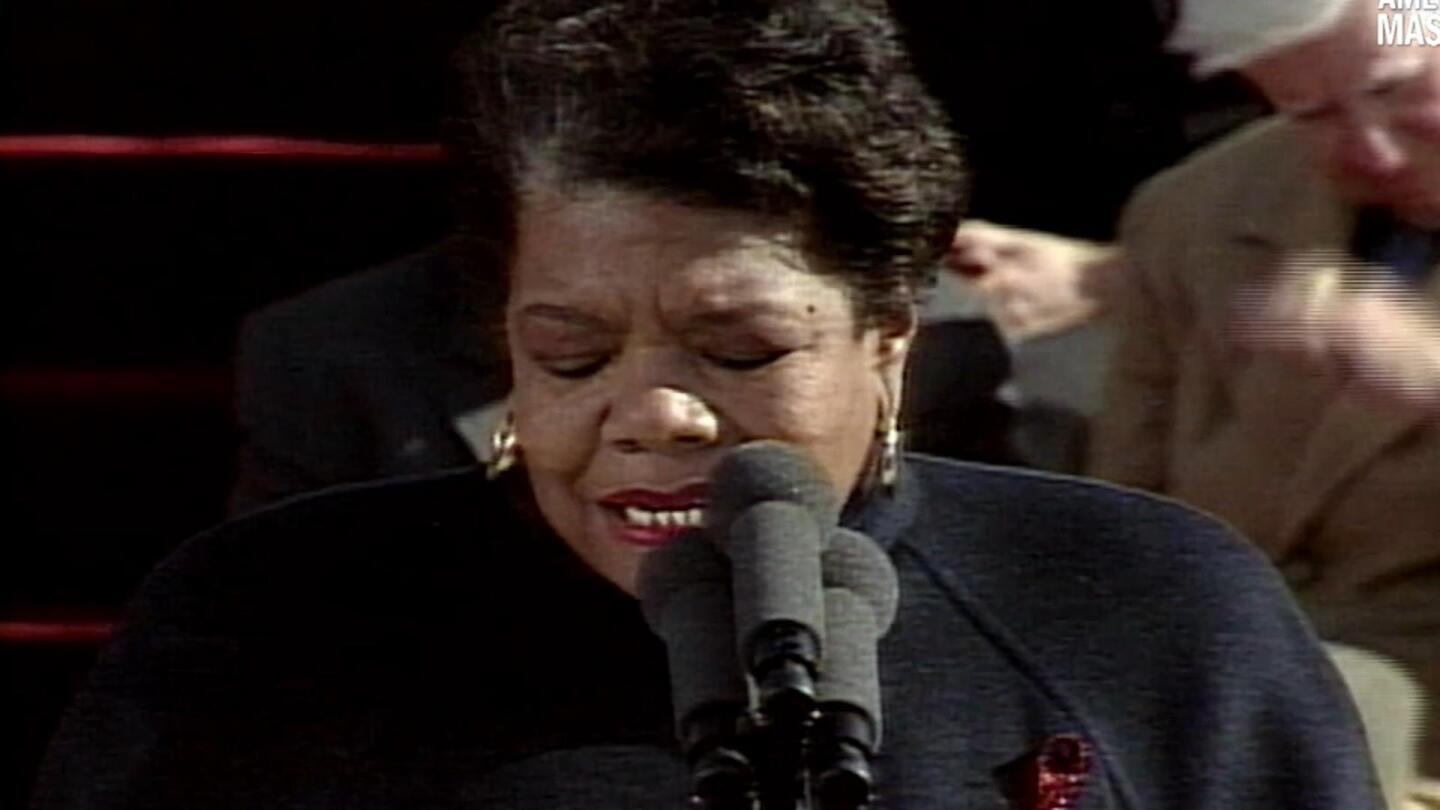 Maya Angelou reads President Bill Clinton's inauguration poem.