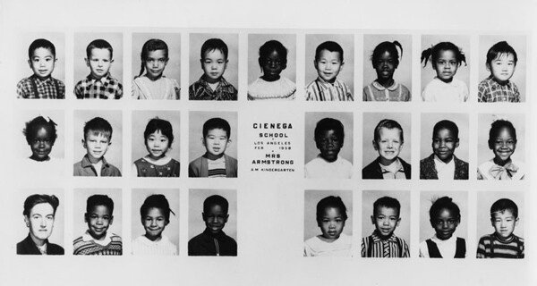 The kindergarten class at Cienega Elementary, 1958   Courtesy of Los Angeles Public Library