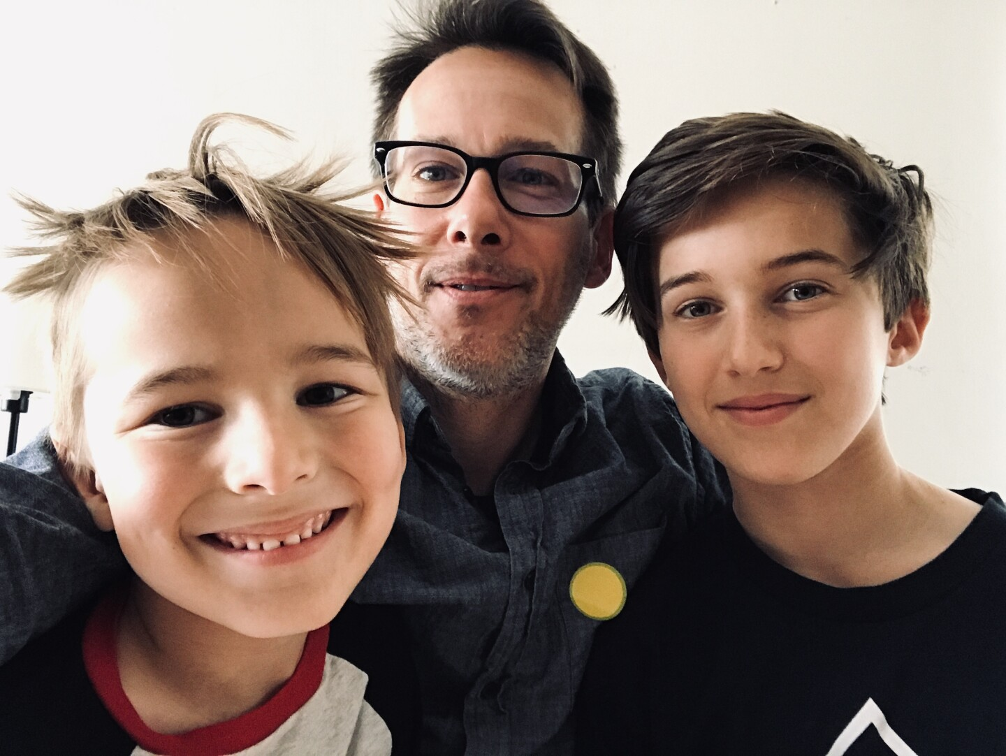 David Callaghan and his two sons