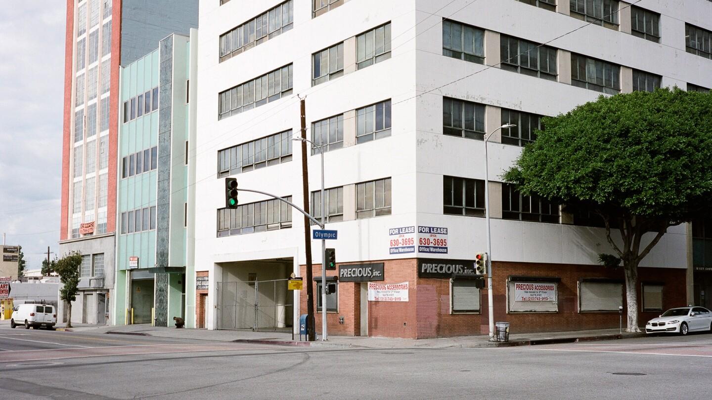 SW Corner of Olympic Blvd. & Los Angeles Street