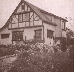 Percival's house, known as the 'Down-hyl Claim,' in the Arroyo | Photo from The Children's Garden Book