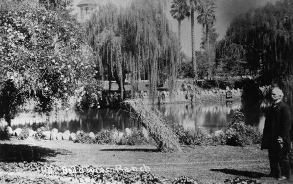 Lucky Baldwin at Santa Anita Ranch ca. 1900. Image: Courtesy Los Angeles Public Library