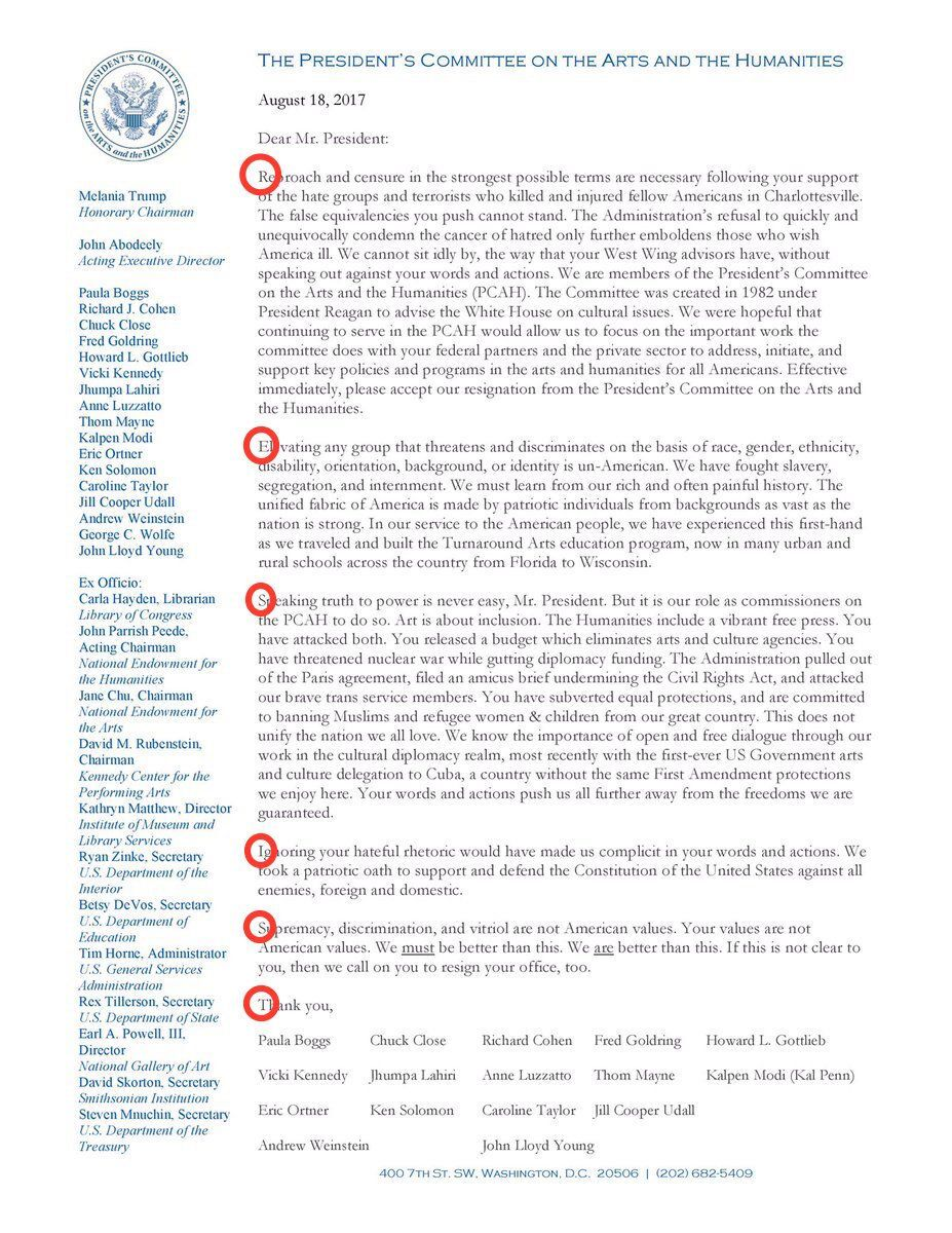 President's Committee on the Arts and the Humanities resignation letter   Kal Penn