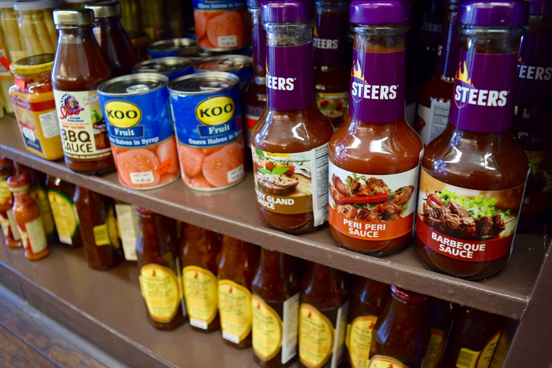 Peri peri sauce and other South African goods at European Deluxe Sausage Kitchen | Danny Jensen