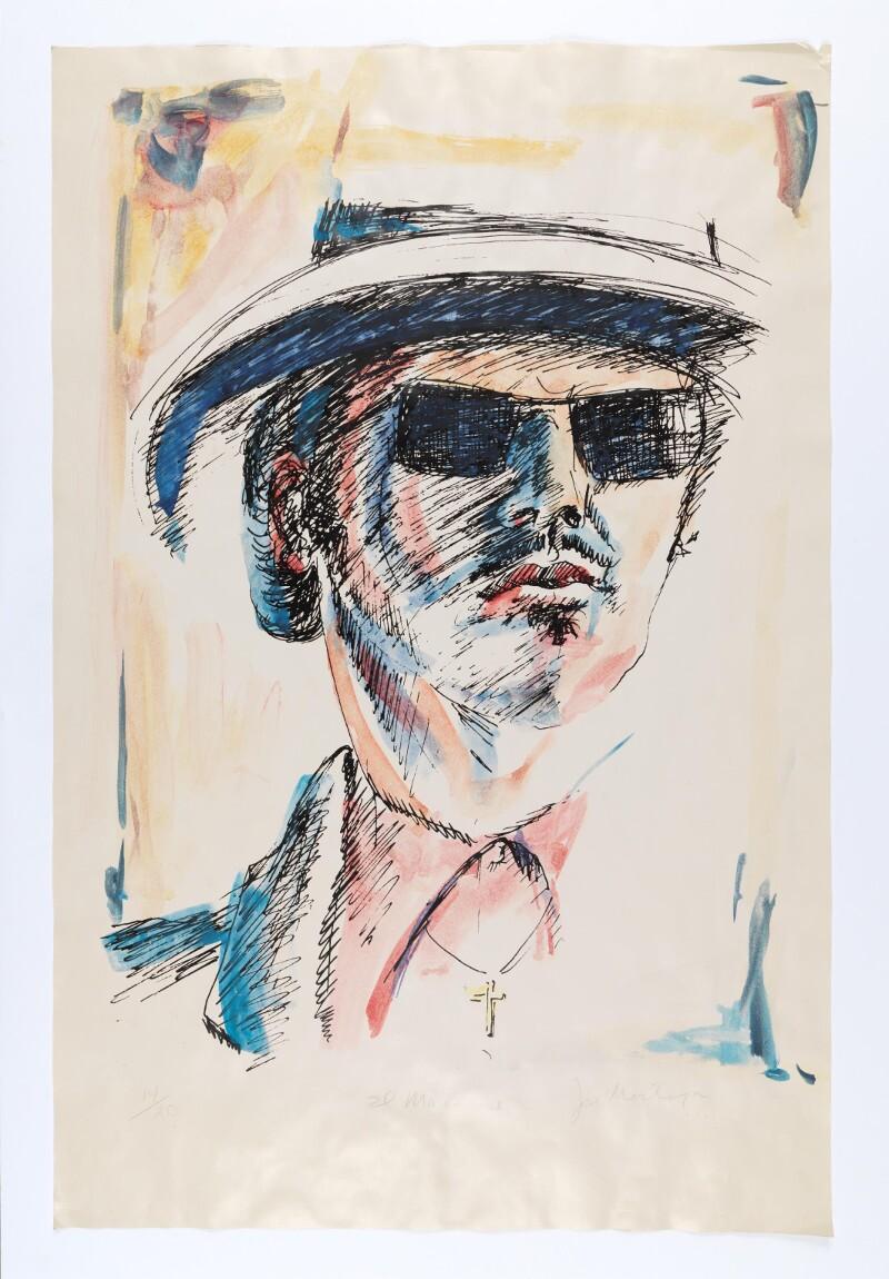 "José Montoya, ""Untitled,""date unknown. Paint on paper.89 x 58.5 cm. Courtesy of the Montoya Family Trust."