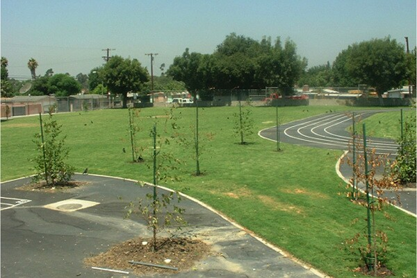 Hillery T. Broadus Elementary School in Pacoima after the retrofit | Photo courtesy of TreePeople