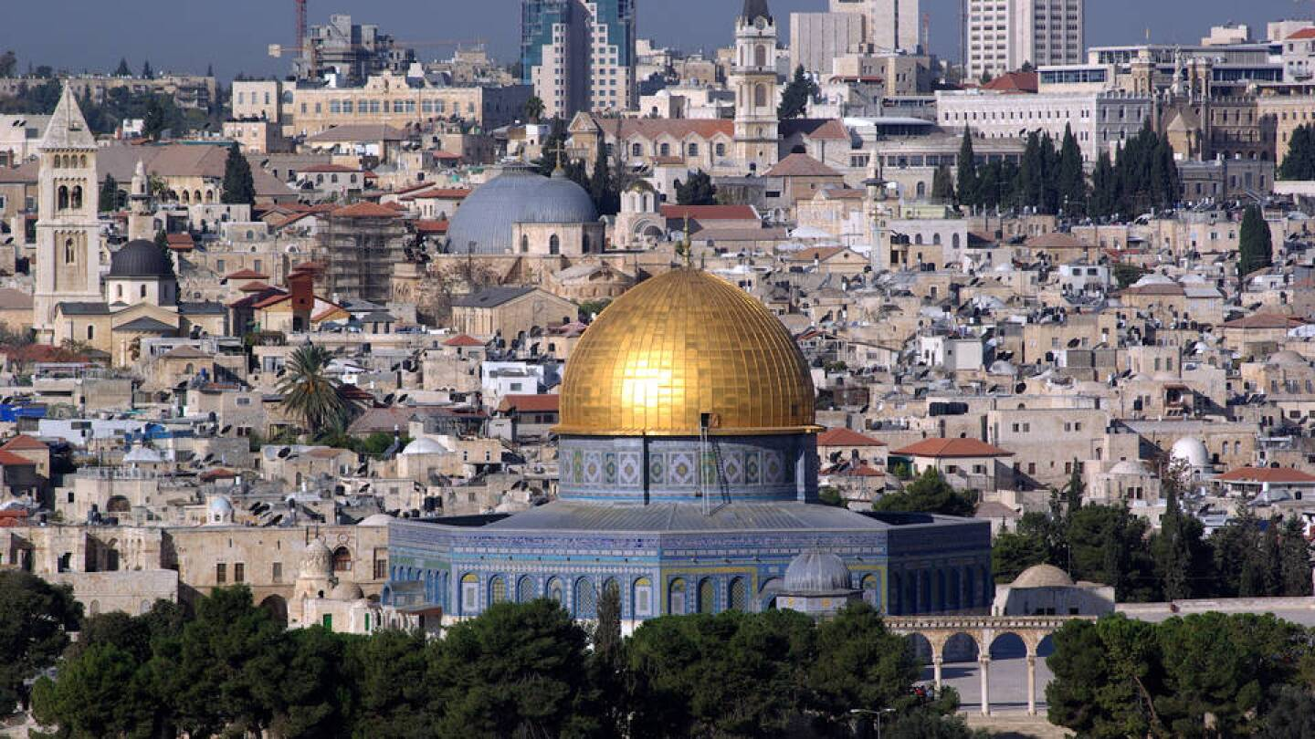 The Dome of the Rock, an Islamic shrine on the Temple Mount in the Old City of Jerusalem. | Democracy Now