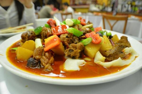 Spicy chicken at Silk Road