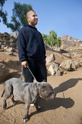 Juan Ortega and Rhino.   Photo: Douglas McCulloh