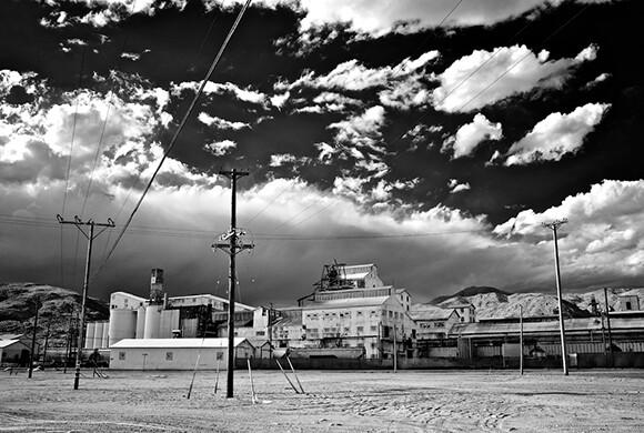 Searles Valley Minerals Plant, Trona, CA, Infrared Exposure, 2011 | Photo: Osceola Refetoff.