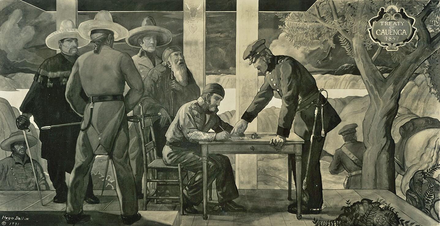 Treaty of Cahuenga, a 1931 mural