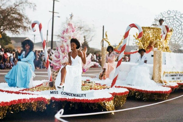 Ms. Congeniality rides in the Willowbrook-Watts parade. Photo from archives of Paula Aliewine.