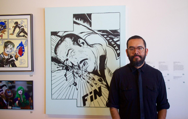 "Luis Ernesto Zavala at ""Artists Assemble"" at MOLAA"