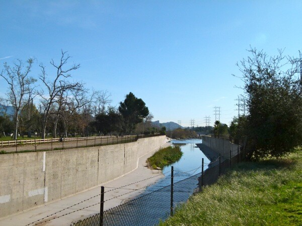 The Burbank Western Channel merges with the Los Angeles River.