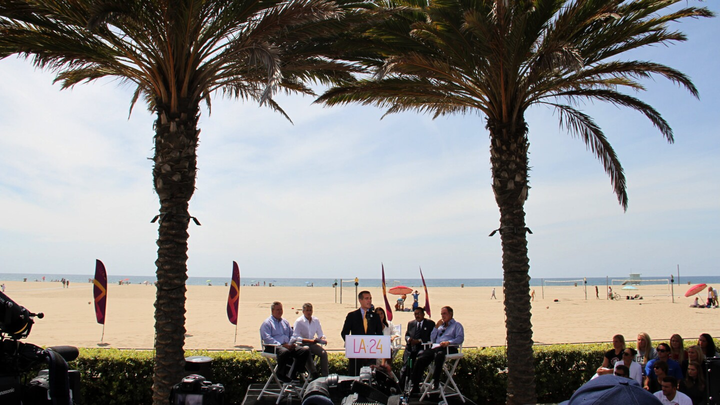 Mayor Eric Garcetti launches Los Angeles Olympic bid for LA2024 | photo Office of Los Angeles Mayor
