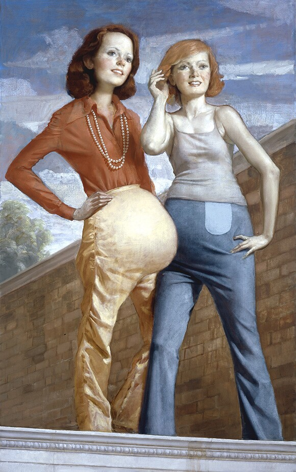 """John Currin, """"Patch and Pearl"""""""