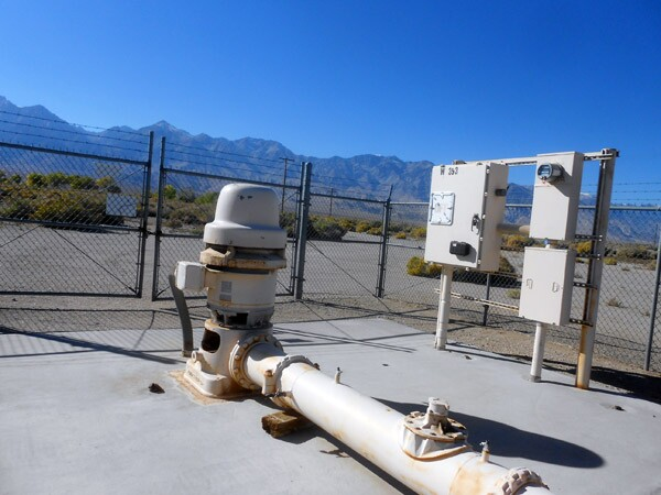 One of LADWP's water pumps, near Manzanar in the Owens Valley.