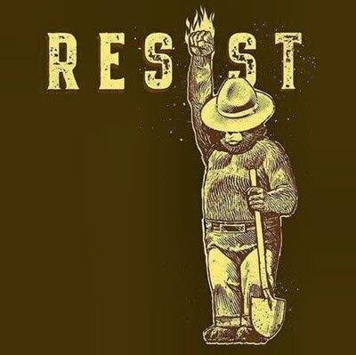 Smokey the Bear resists