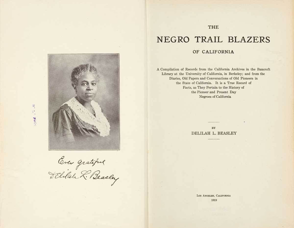 "Pages from Delilah L. Beasley's ""The Negro Trail Blazers of California."" Los Angeles, 1919 