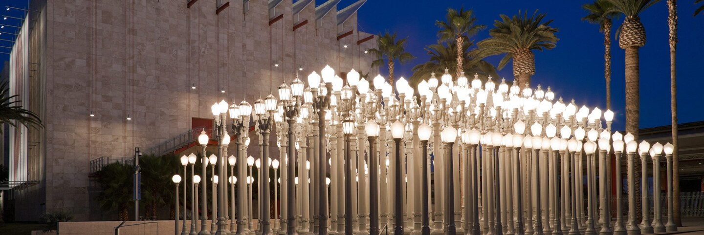 "Chris Burden's ""Urban Light"" 