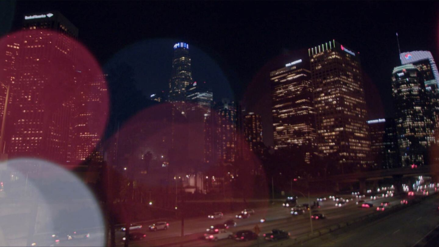 "Los Angeles skyline with bokeh | Still from ""Nightshift"""