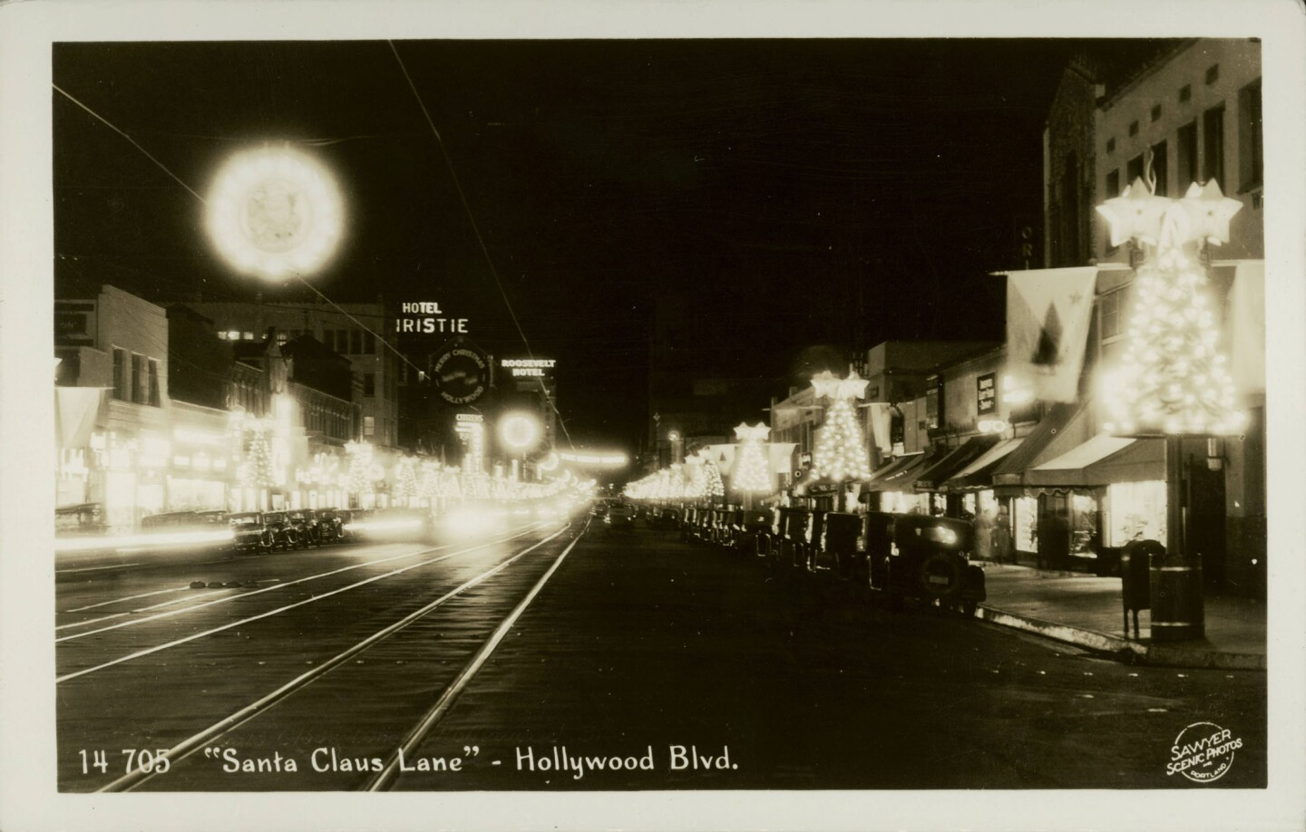 Postcard of Santa Claus Lane in 1936. Courtesy of the California Historical Society Collection, USC Libraries.