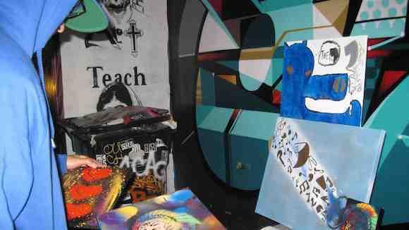 Street art at FAME Fest.