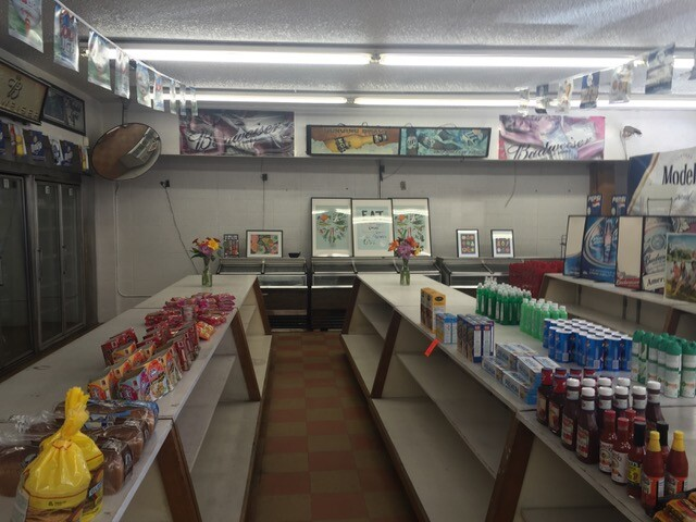 Hank's Mini Mart old shelves   Courtesy of  Los Angeles Food Policy Council
