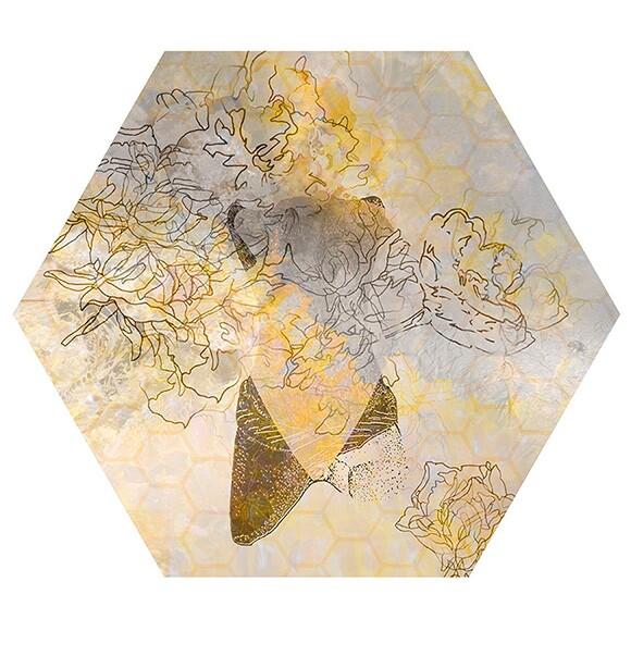 "Nancy Macko, ""Honey Teachings 09A,"" 2015, Archival digital image on panel, 11.5"" diameter."