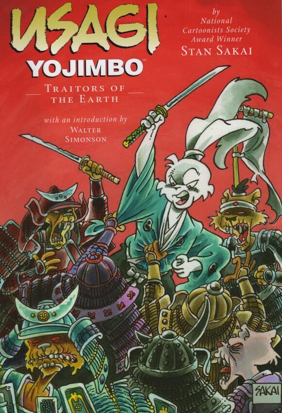 Cover of Stan Sakai's <em>Usagi Yojimbo Book 26: Traitors of the Earth.</em>