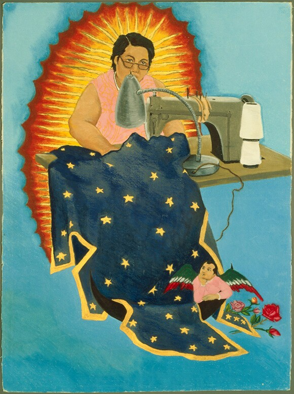 """Margaret F. Stewart: Our Lady of Guadalupe"" by Yolanda Lopez, 1978. 