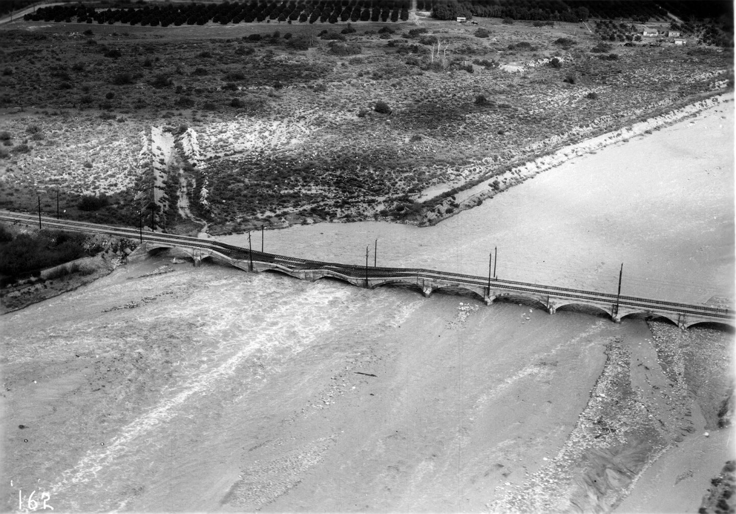 Azusa during the flood of 1938