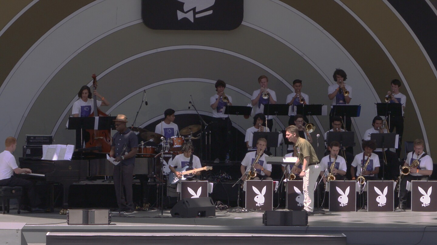All City Jazz Band Members on Stage at the Playboy Jazz Festival