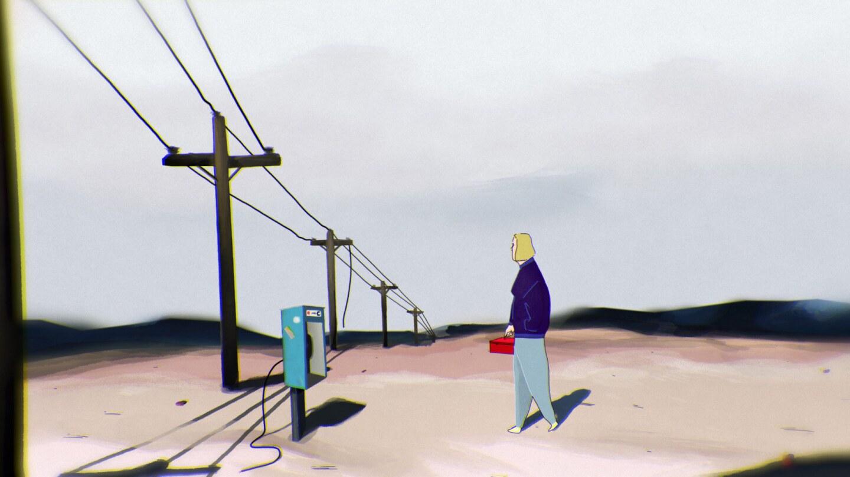 "A still fromJenna Caravello's short animated film ""Frontier Wisdom."" | Courtesy of Jenna Caravello"