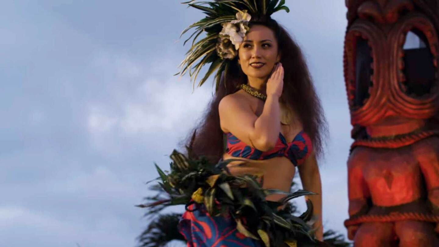 Kayli Ka'iulani Carr competing in Miss Aloha Hula competition. | Great Big Story