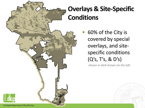 The majority of Los Angeles is the exception to the zoning rule. Image from a Planning Department report from November 2011