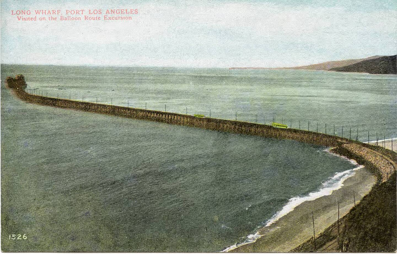 Postcard of Santa Monica's Long Wharf