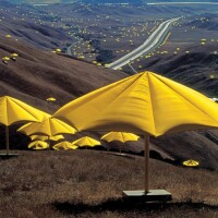 Christo and Jeanne-Claude. The Umbrellas, Japan-USA, 1984-91.